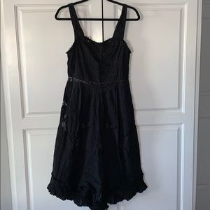 FREE PEOPLE sheer black lace boho dress